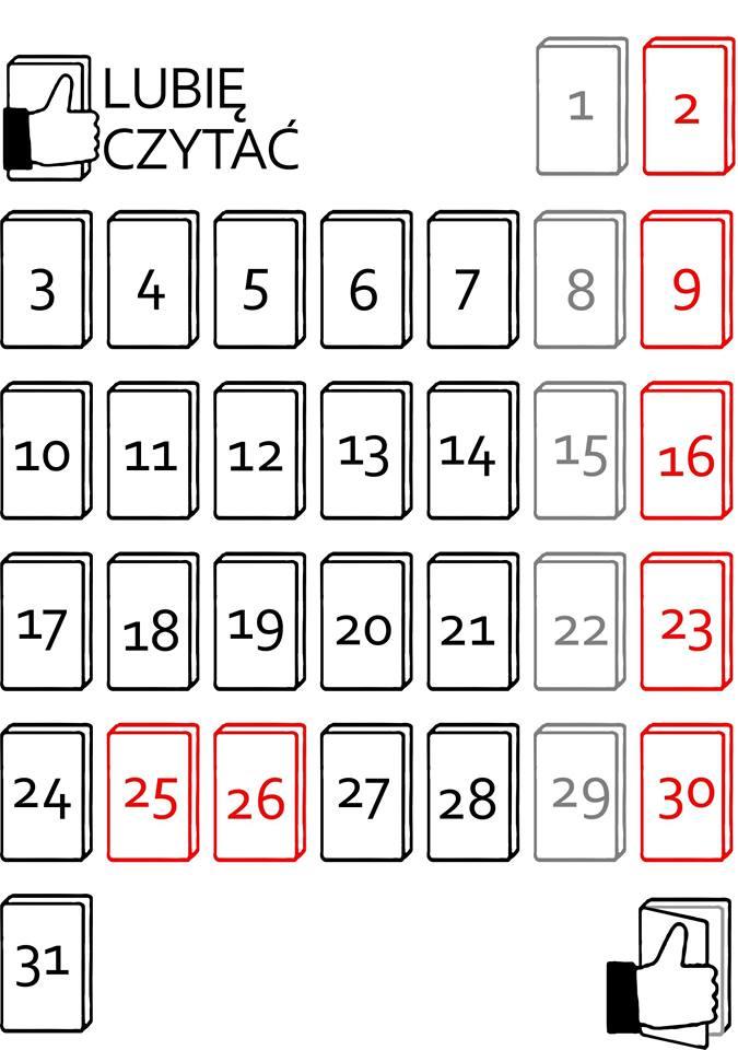 Książkowy kalendarz
