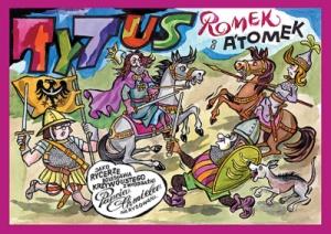 Tytus, Romek i A'Tomek jako rycerze Bolesława Krzywoustego z wyobraźni Papcia Chmiela narysowani - Henryk Jerzy  Chmielewski