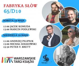 Fabryka Słów na Warszawskich Targach Książki - Warszawskie Targi Książki