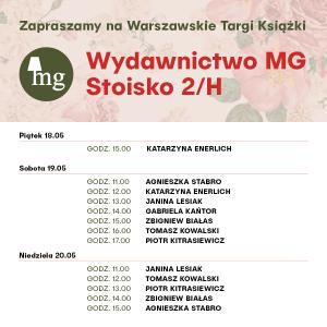 Wydawnictwo Mg na Warszawskich Targach Książki -