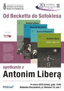 Spotkanie z Antonim Liberą. Od Becketta do Sofoklesa - Biblioteka Raczyńskich